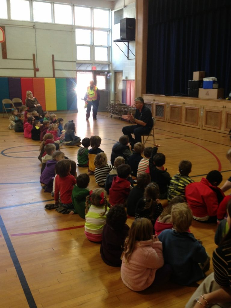 Hamagreal Elementary School Receives A Fire Prevention Visit From The Delmar Fire Department