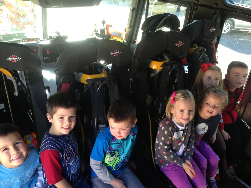 Delmar FD Visits Bethlehem Community Church Preschool