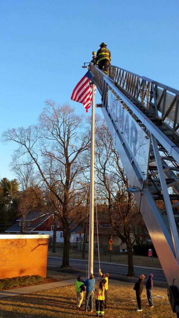 DFD Was There To Assist St. Thomas School Raise The Flag