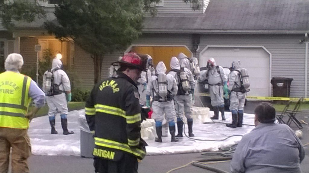 Paxwood Road Was The Scene Of A Hazmat Incident … Delmar FD Responds