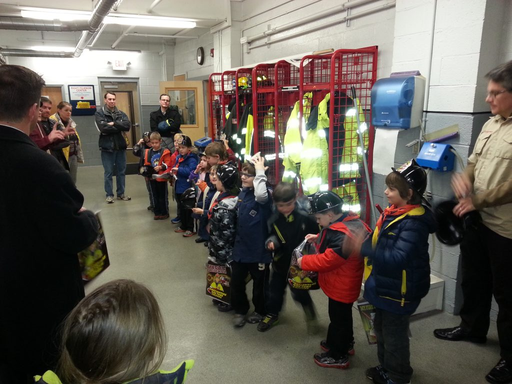 Bethlehem's Tiger Scouts Pack 23 Tour Delmar Fire Department