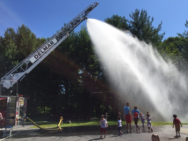 Delmar Fire Providing Fire Prevention & Cool Summer Fun at the YMCA