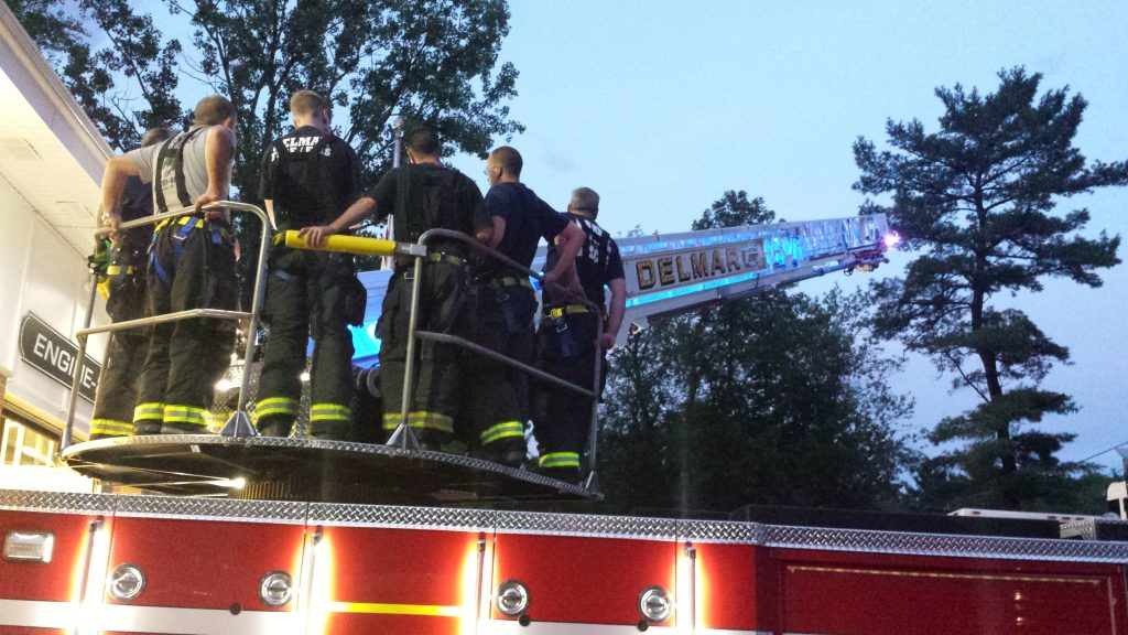 Delmar FD Members Train On New Ladder Truck