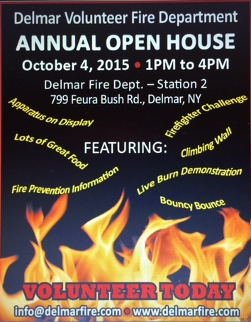 Your Invited To Our Annual Open House ~ First Time Ever Being Held At Our Delmar FD Station 2 ~ Sunday, October 4th ~ 1 pm – 4 pm