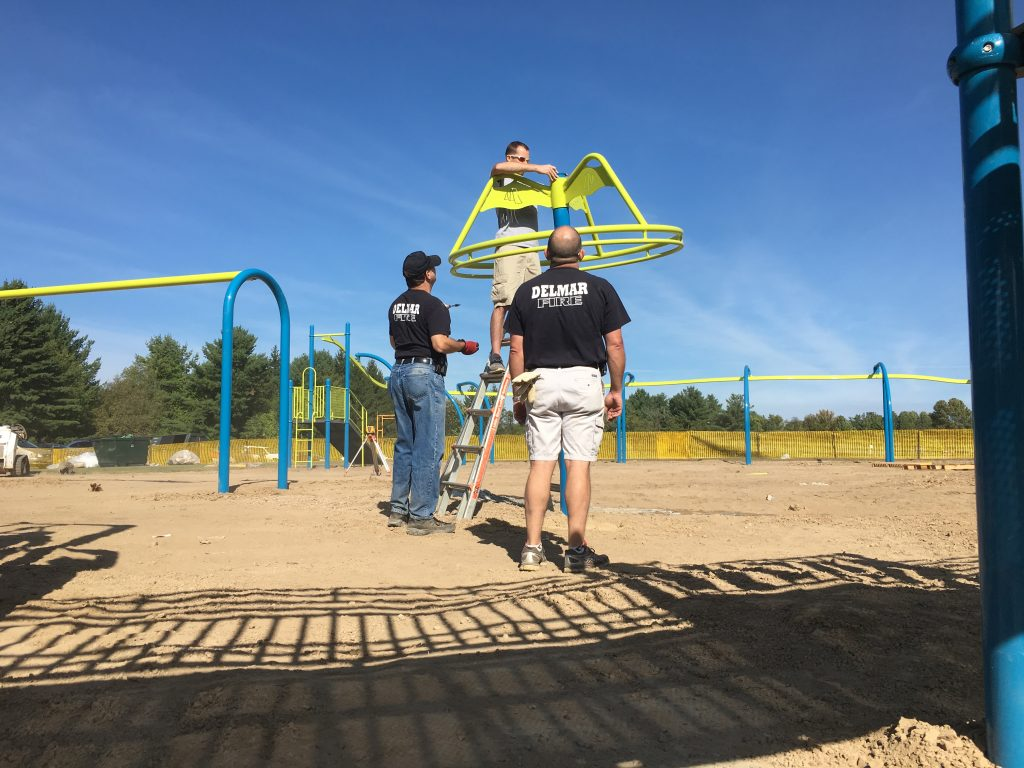 Town Playground – Delmar FD Members Lend A Hand