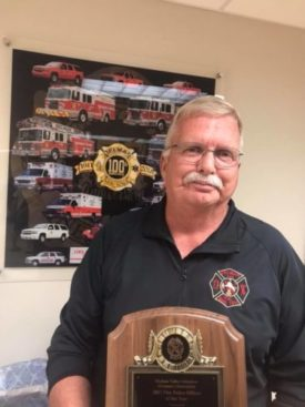 Delmar Fire Department's George Williams Named Fire Police Officer Of The Year